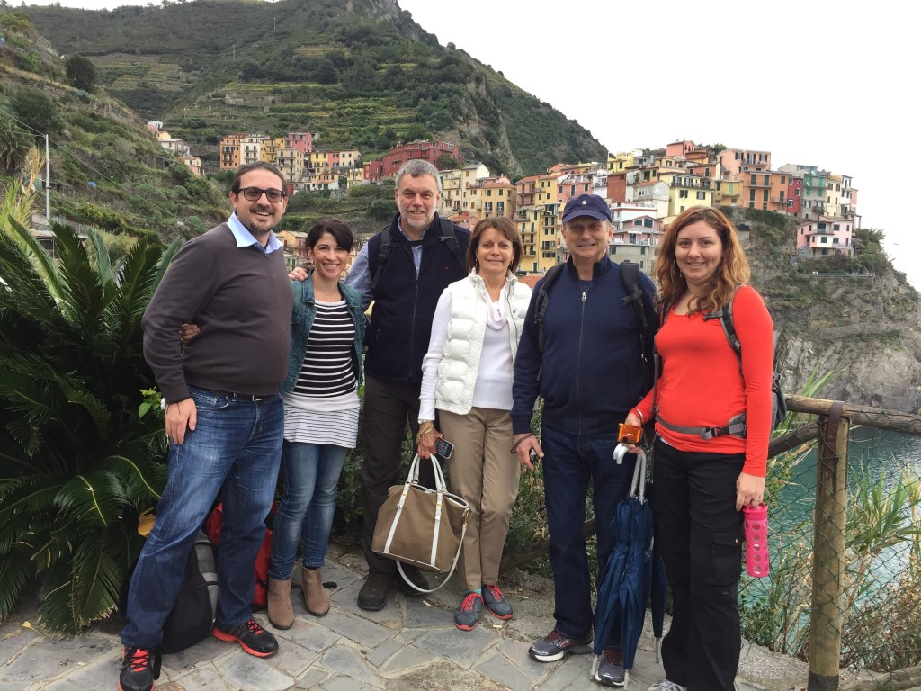 Feeling on top of the world in cinque terre