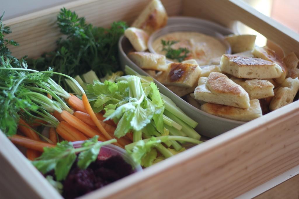 Grace's healthy snack platter