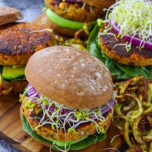 The Vegan Plate – mezze plate, a Vegan burger and more